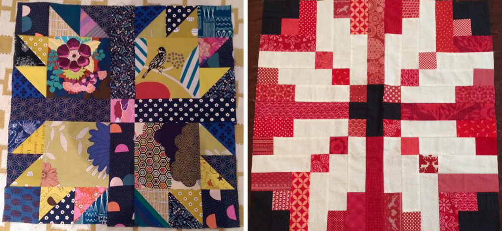 Travelling quilt starting blocks 1