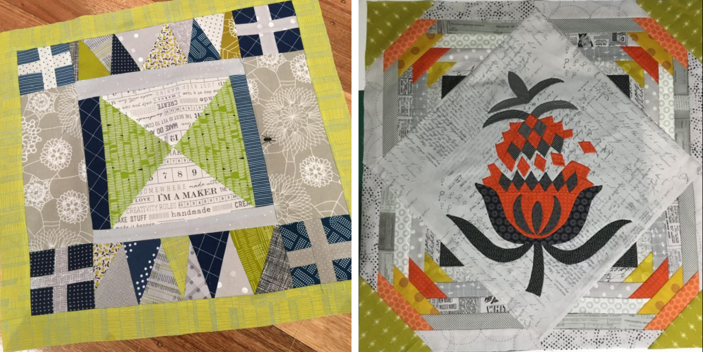 Travelling quilt starting blocks 4