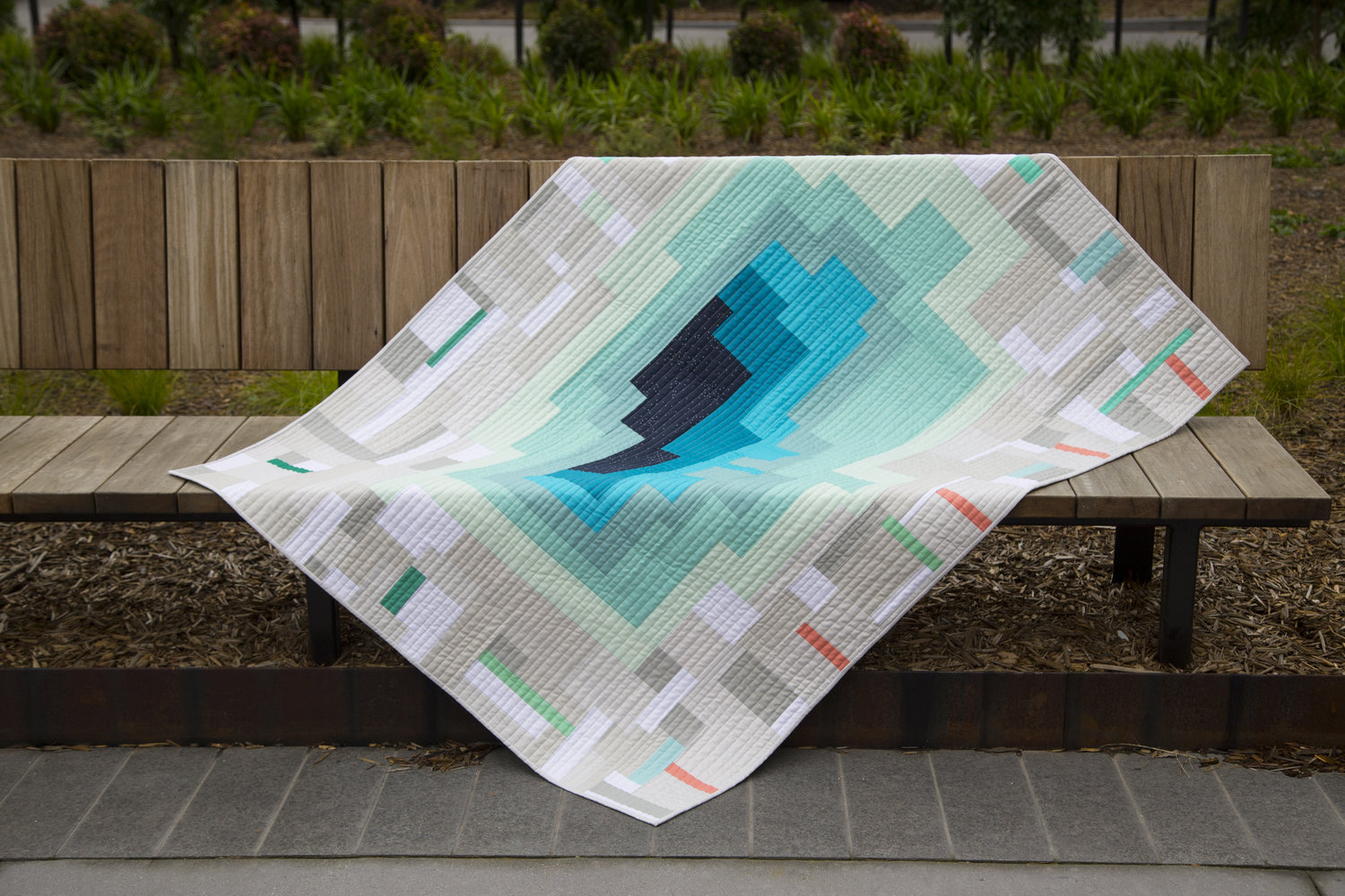 Modern quilt by QuiltByStarlight